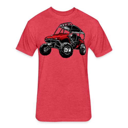 UTV side-x-side yamaha, red - Fitted Cotton/Poly T-Shirt by Next Level