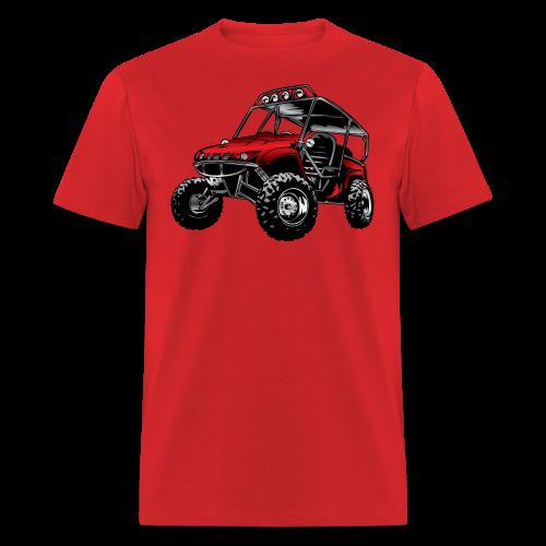 UTV side-x-side yamaha, red - Men's T-Shirt