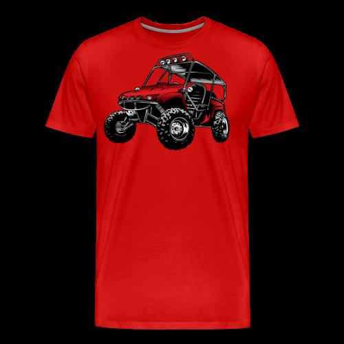 UTV side-x-side yamaha, red - Men's Premium T-Shirt