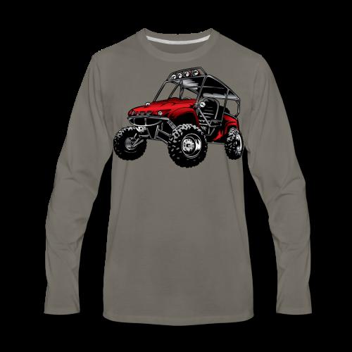 UTV side-x-side yamaha, red - Men's Premium Long Sleeve T-Shirt