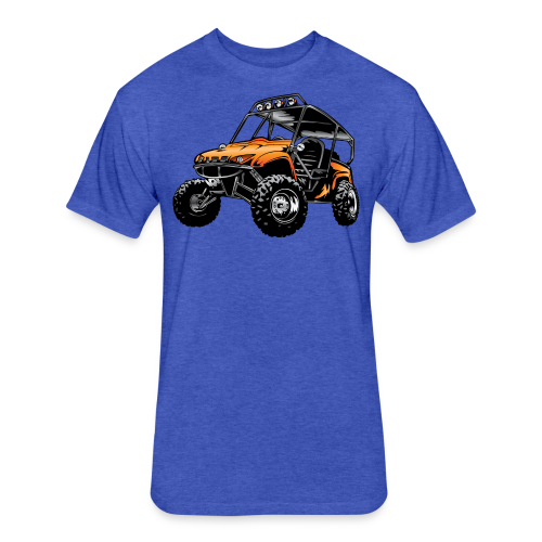 UTV side-x-side, orange - Fitted Cotton/Poly T-Shirt by Next Level