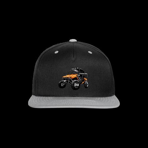 UTV side-x-side, orange - Snap-back Baseball Cap