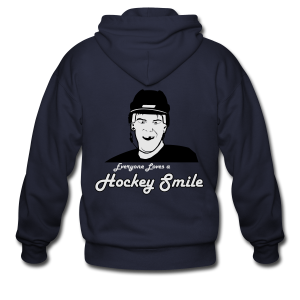 Everyone Loves A Hockey Smile - Mens - Men's Zip Hoodie