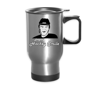 Everyone Loves A Hockey Smile - Mens - Travel Mug