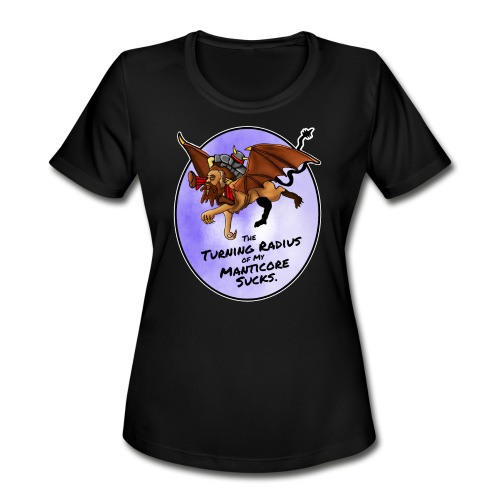 Manticore Rider - Women's Moisture Wicking Performance T-Shirt