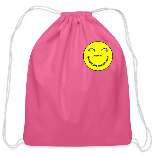 Marching Band Smiley - Cotton Drawstring Bag