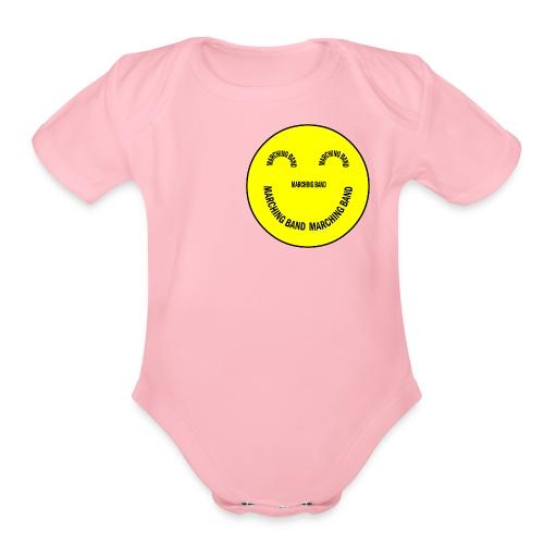 Marching Band Smiley - Organic Short Sleeve Baby Bodysuit