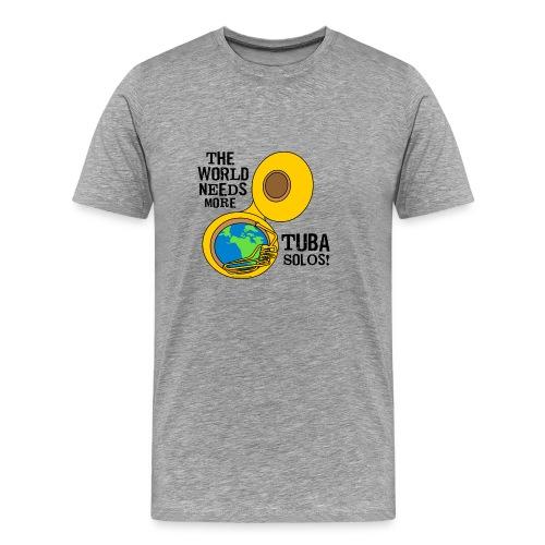 Tuba Solos  - Men's Premium T-Shirt