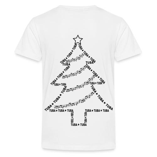Tuba Text Christmas Tree - Kids' Premium T-Shirt