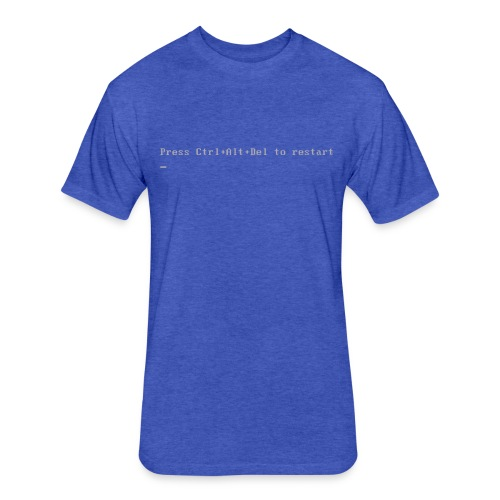 Blue Shirt of Death - Fitted Cotton/Poly T-Shirt by Next Level