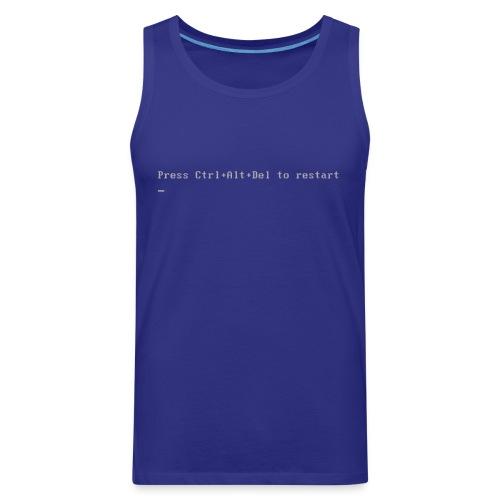Blue Shirt of Death - Men's Premium Tank
