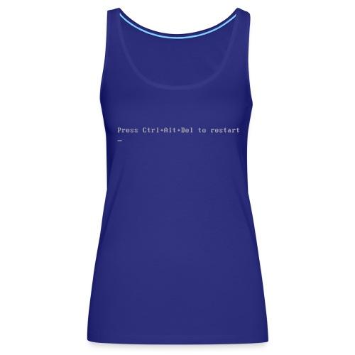Blue Shirt of Death - Women's Premium Tank Top