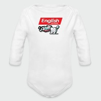 English Toothpaste - Long Sleeve Baby Bodysuit