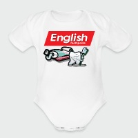 English Toothpaste - Short Sleeve Baby Bodysuit