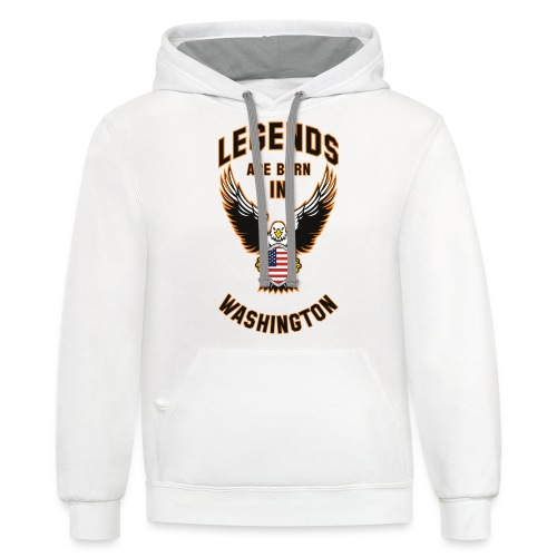 Legends are born in Washington - Contrast Hoodie