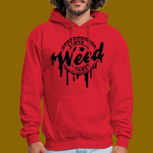 I LOVE WEED TEE 4 - Men's Hoodie