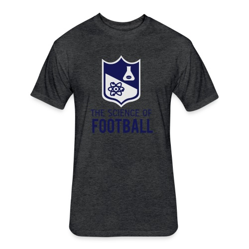 The Science of Football - Grey - Fitted Cotton/Poly T-Shirt by Next Level