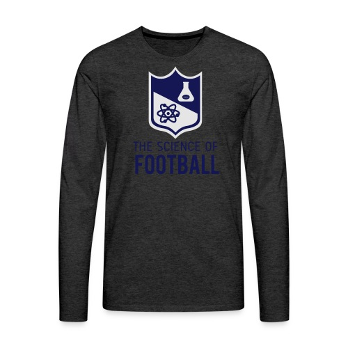 The Science of Football - Grey - Men's Premium Long Sleeve T-Shirt