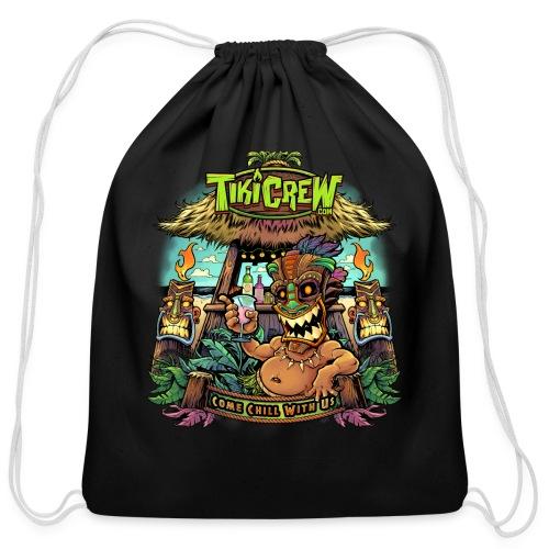 Tiki Bar - Cotton Drawstring Bag
