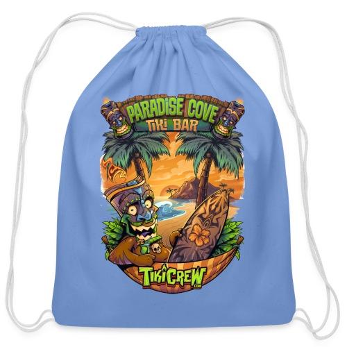 TIki Man in a Hammock - Cotton Drawstring Bag