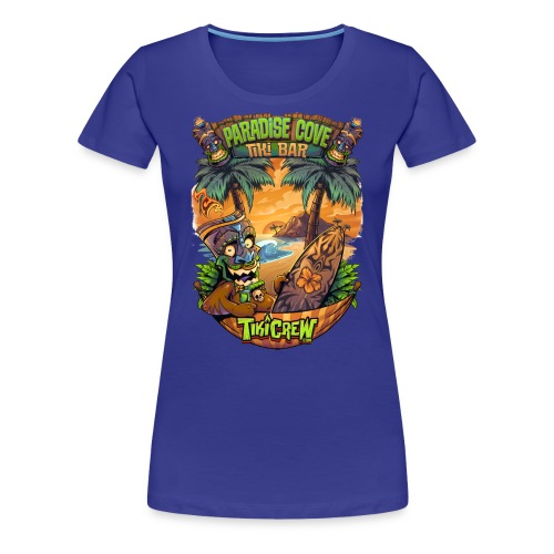 TIki Man in a Hammock - Women's Premium T-Shirt