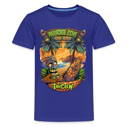 TIki Man in a Hammock - Kids' Premium T-Shirt