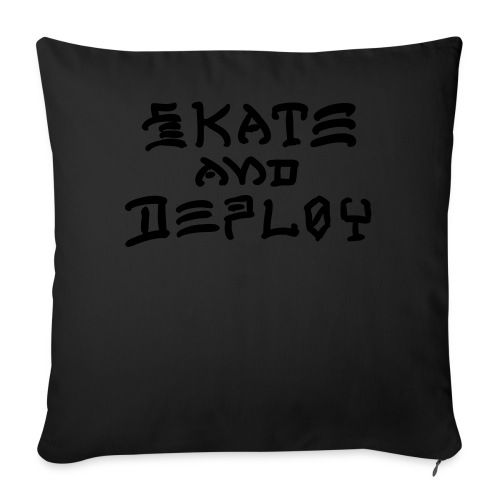 "Skate and Deploy - Throw Pillow Cover 18"" x 18"""