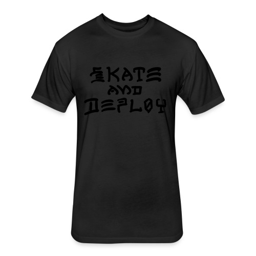 Skate and Deploy - Fitted Cotton/Poly T-Shirt by Next Level