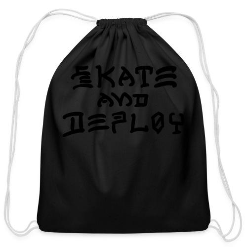 Skate and Deploy - Cotton Drawstring Bag