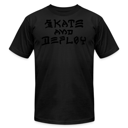 Skate and Deploy - Men's  Jersey T-Shirt