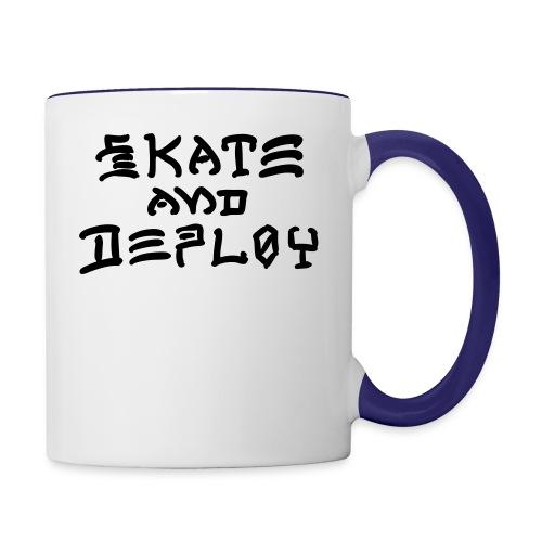 Skate and Deploy - Contrast Coffee Mug