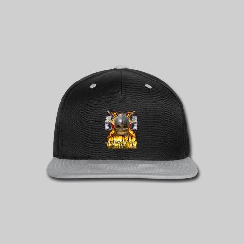 Vikings of Bjornstad/Real Vikings Don't Wear Horns - Black T-Shirt - Snap-back Baseball Cap