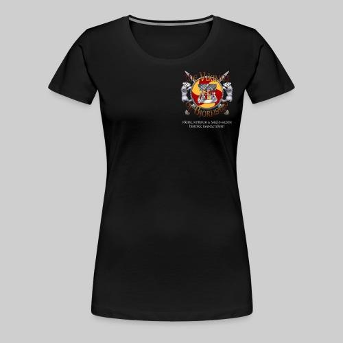 Vikings of Bjornstad/Real Vikings Don't Wear Horns - Black T-Shirt - Women's Premium T-Shirt