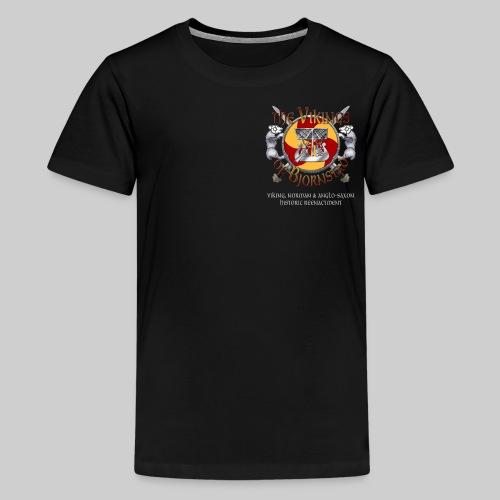 Vikings of Bjornstad/Real Vikings Don't Wear Horns - Black T-Shirt - Kids' Premium T-Shirt