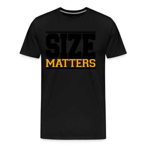 SIZE Matter gym fitness t-shirt - Men's Premium T-Shirt