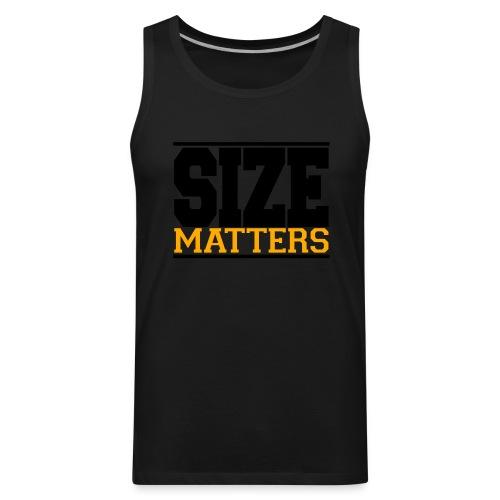 SIZE Matter gym fitness t-shirt - Men's Premium Tank