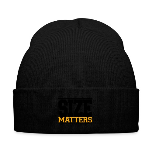 SIZE Matter gym fitness t-shirt - Knit Cap with Cuff Print