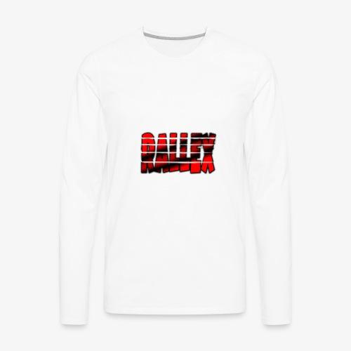 Womens Split Rallex Constast Hoodie - Men's Premium Long Sleeve T-Shirt