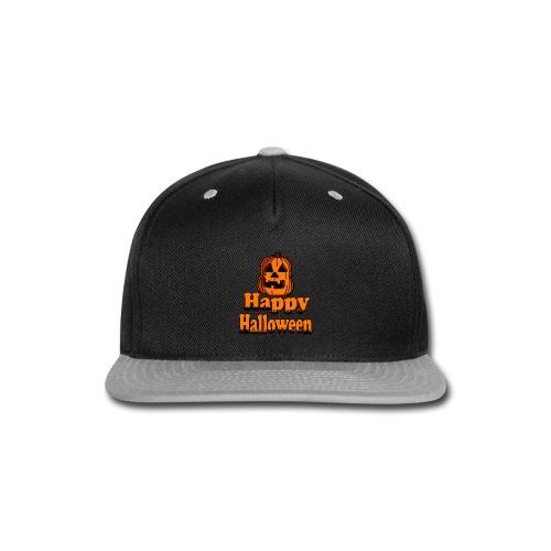 Happy Halloween pumpkin - Snap-back Baseball Cap