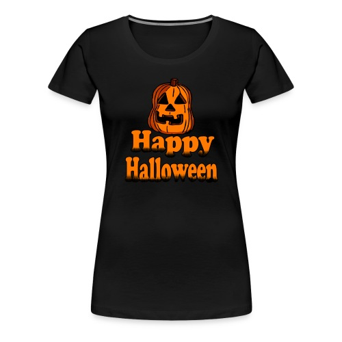 Happy Halloween pumpkin - Women's Premium T-Shirt