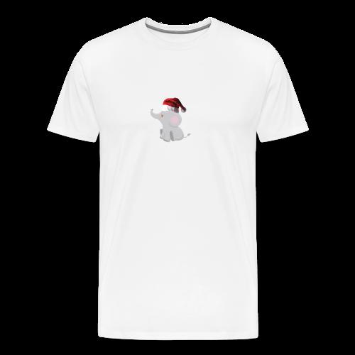 Christmas Elephant - Men's Premium T-Shirt