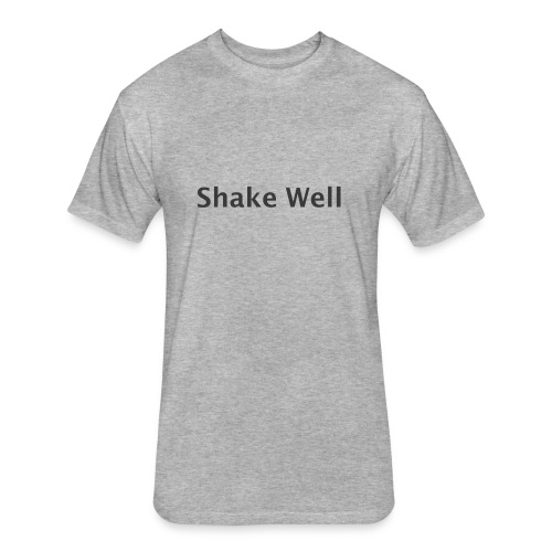 Shake Well (gray) - Fitted Cotton/Poly T-Shirt by Next Level