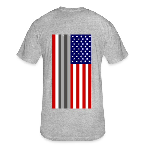 Twin Towers Flag - Fitted Cotton/Poly T-Shirt by Next Level