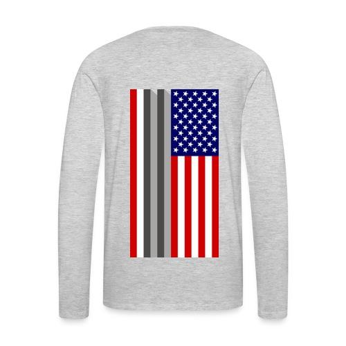 Twin Towers Flag - Men's Premium Long Sleeve T-Shirt