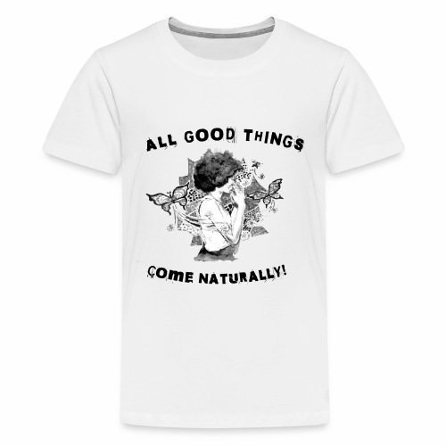 Best Selling Afro Team Natural Black Pride Tees - Kids' Premium T-Shirt