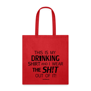 My Drinking Shirt - Black Glitz - Tote Bag