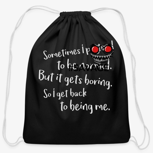 #savage - Cotton Drawstring Bag