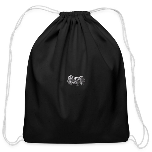 Three Crazy Owls - Cotton Drawstring Bag