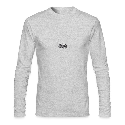 Three Crazy Owls - Men's Long Sleeve T-Shirt by Next Level