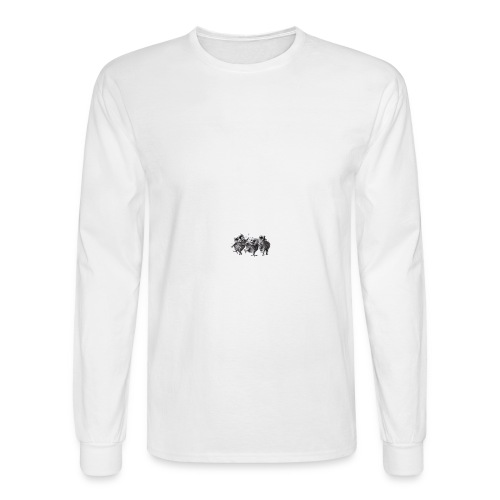 Three Crazy Owls - Men's Long Sleeve T-Shirt